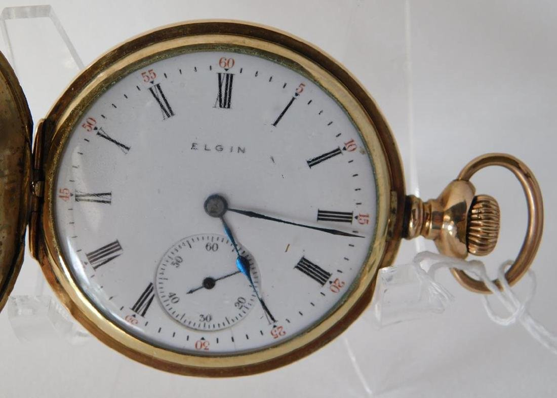 1907 ELGIN 7J GILT POCKETWATCH