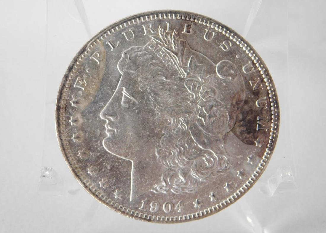 1904-O MORGAN SILVER DOLLAR - BU