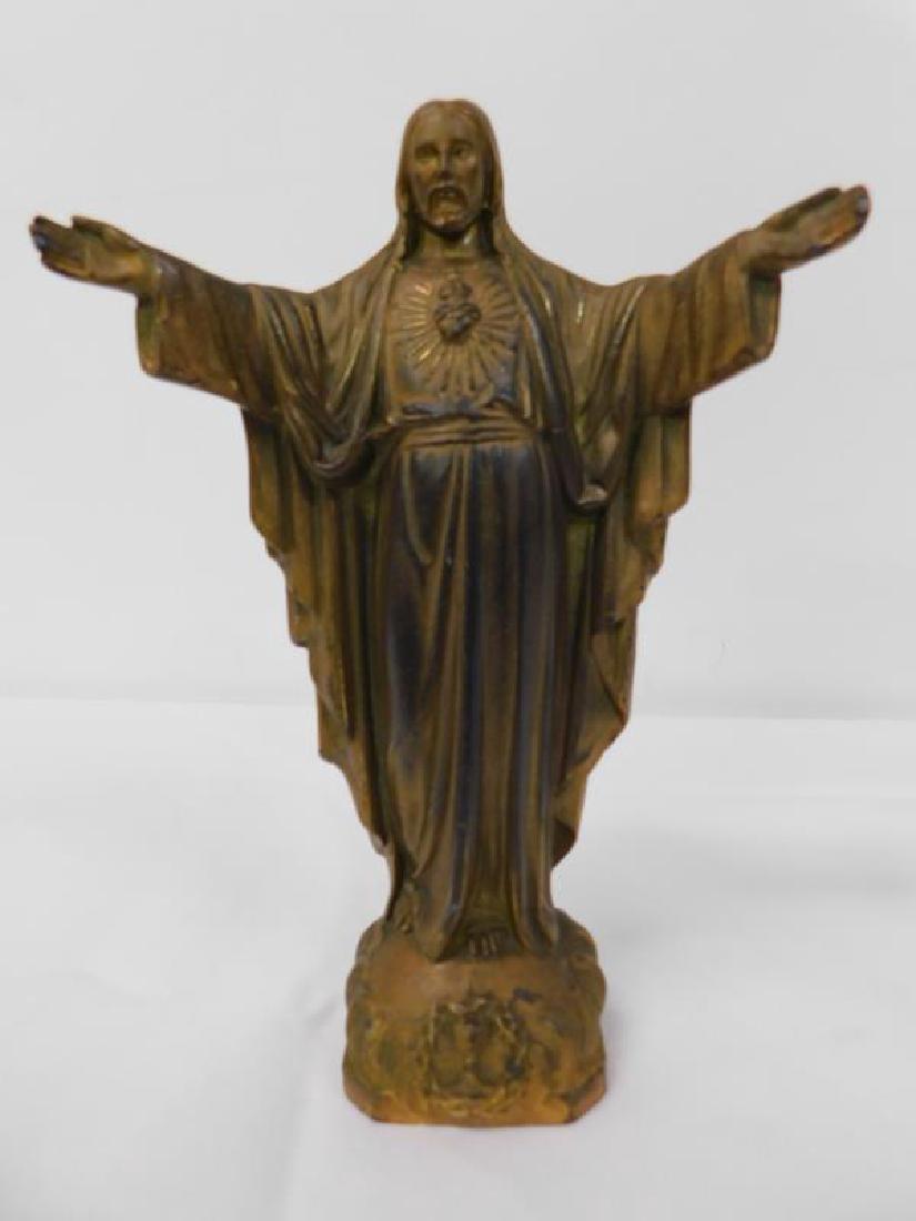 JESUS SACRED HEART BRONZE ICON