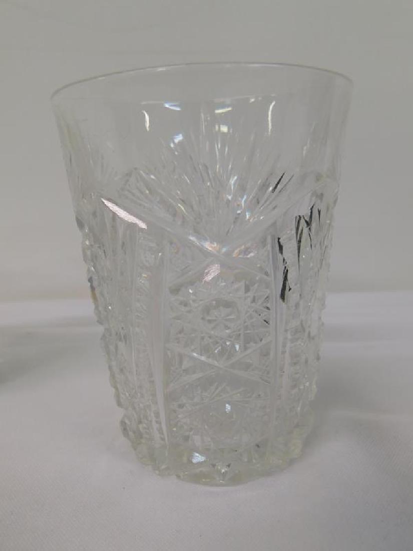 6 BRILLIANT PERIOD CUT GLASS TUMBLERS - 2