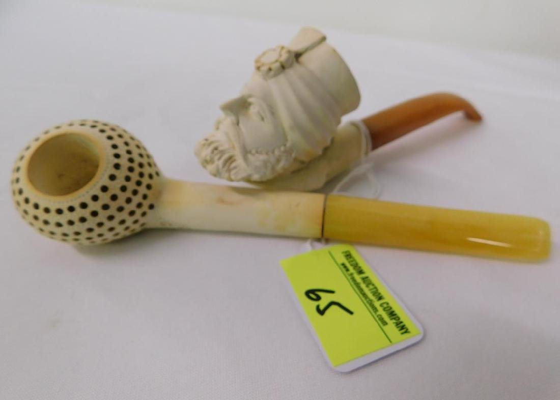 2 MEERSCHAUM TOBACCO PIPES