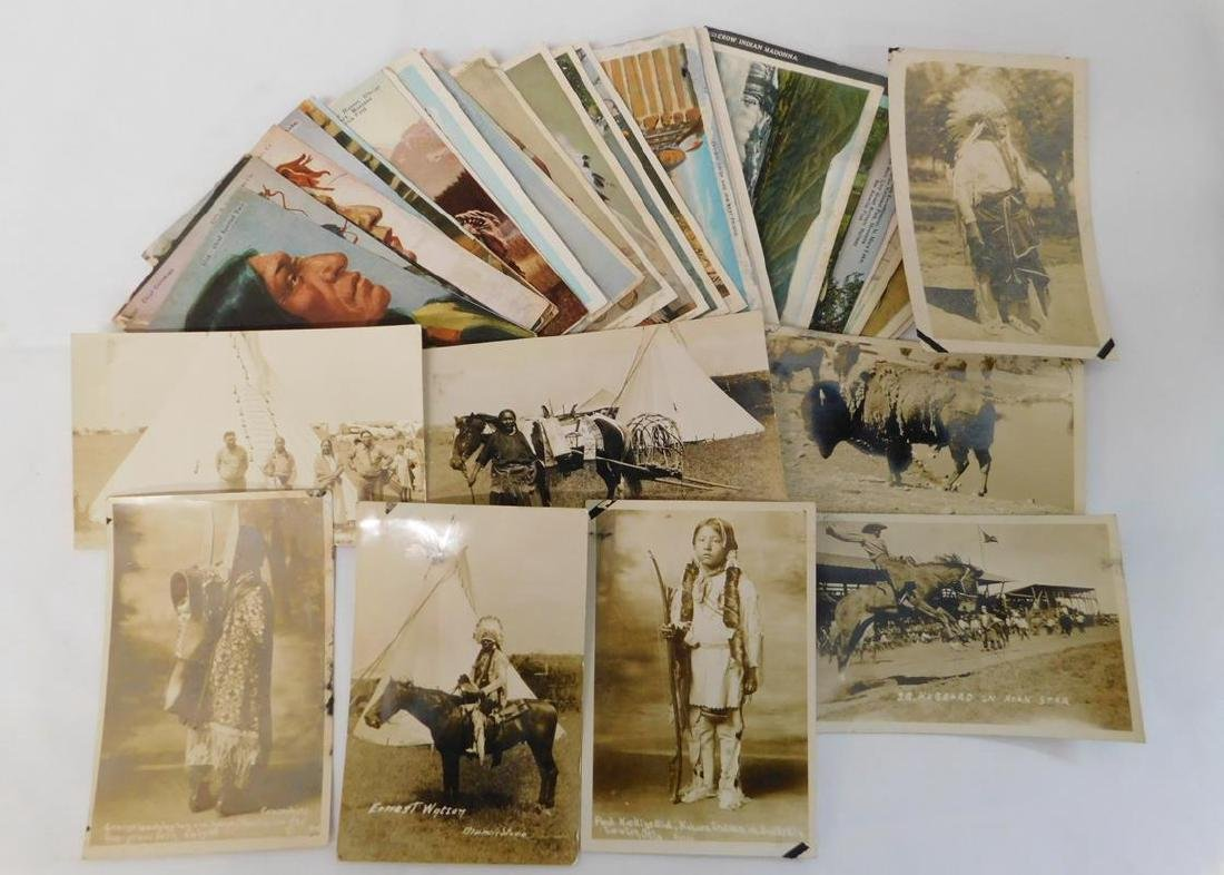 WESTERN, INDIAN POSTCARDS, INCL. RPPC