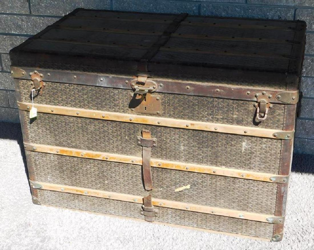 GOYARD - PARIS COURIER HIGH STEAMER TRUNK