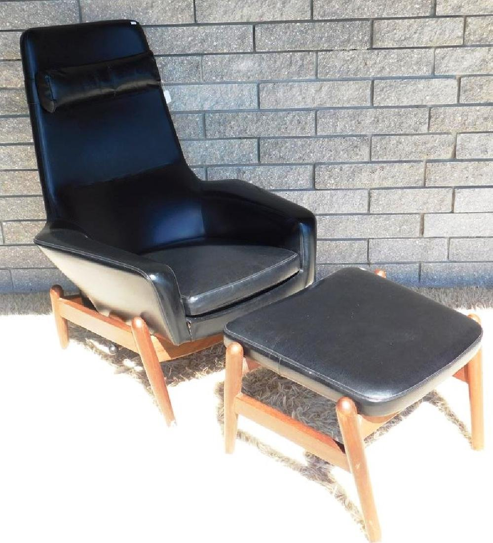 KOFOD LARSEN STYLE LOUNGE CHAIR WITH OTTOMAN