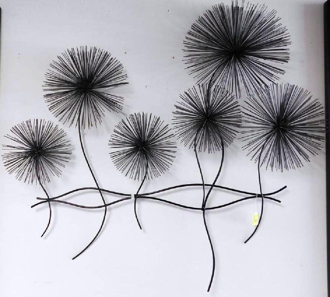 CURTIS JERE (ATTR.) ANEMONE METAL WALL SCULPTURE