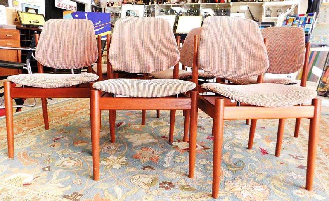 6 ARNE VODDER FOR FRANCE & SON #203 DINING CHAIRS