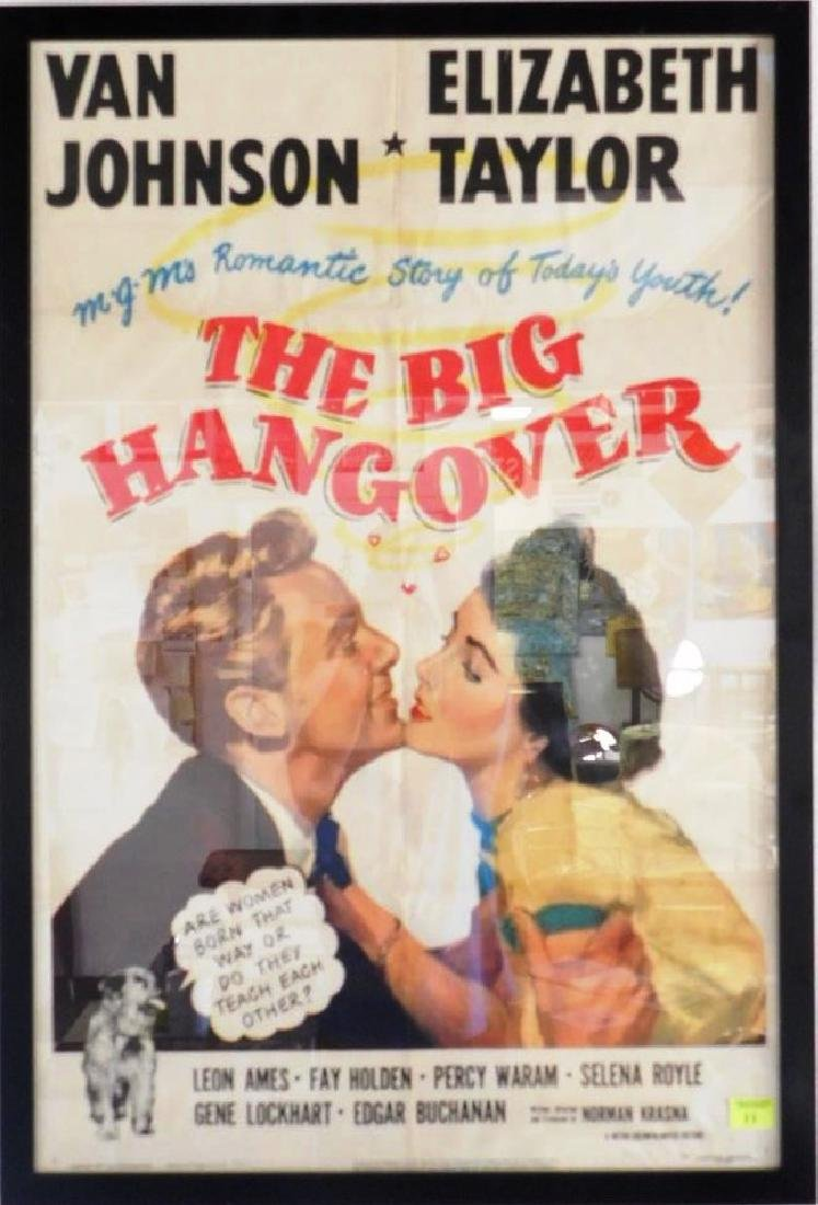 """THE BIG HANGOVER"" MOVIE POSTER, 1950"