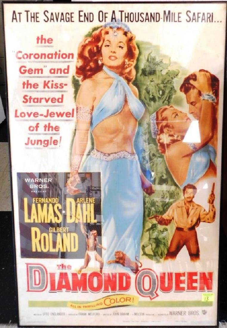 """THE DIAMOND QUEEN"" MOVIE POSTER, 1953"