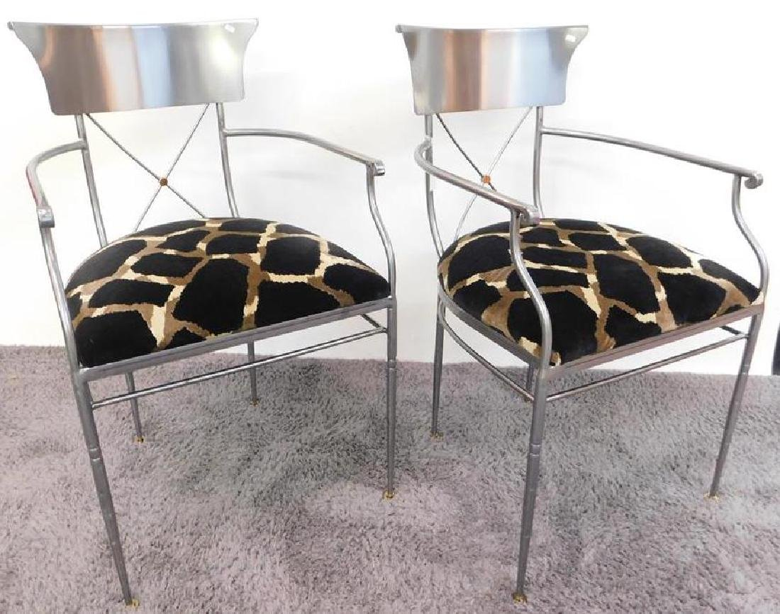 GIACOMETTI-STYLE ARM CHAIRS