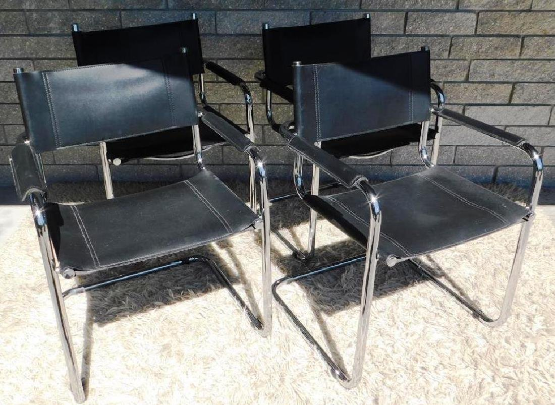 4 MART STAM S34 CANTILEVER ARM CHAIRS
