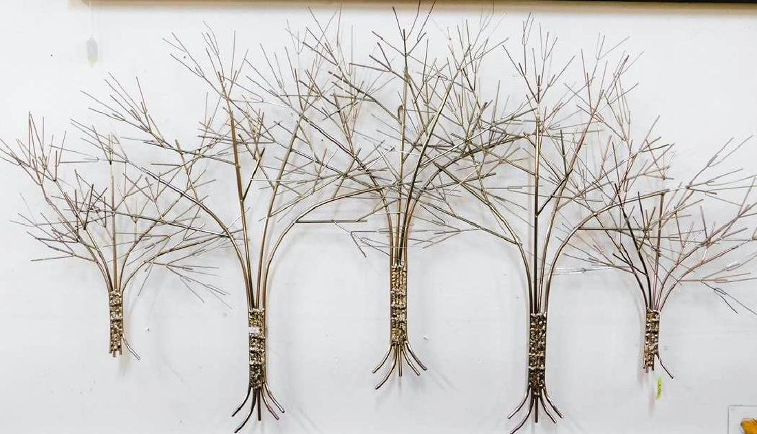 CURTIS JERE CHROME WALL SCULPTURE OF TREE