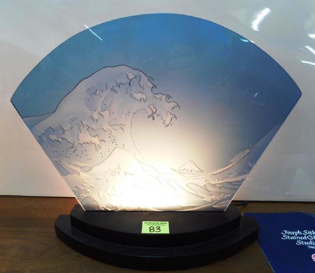 JOSEPH SITKO STAINED GLASS STUDIO LAMP