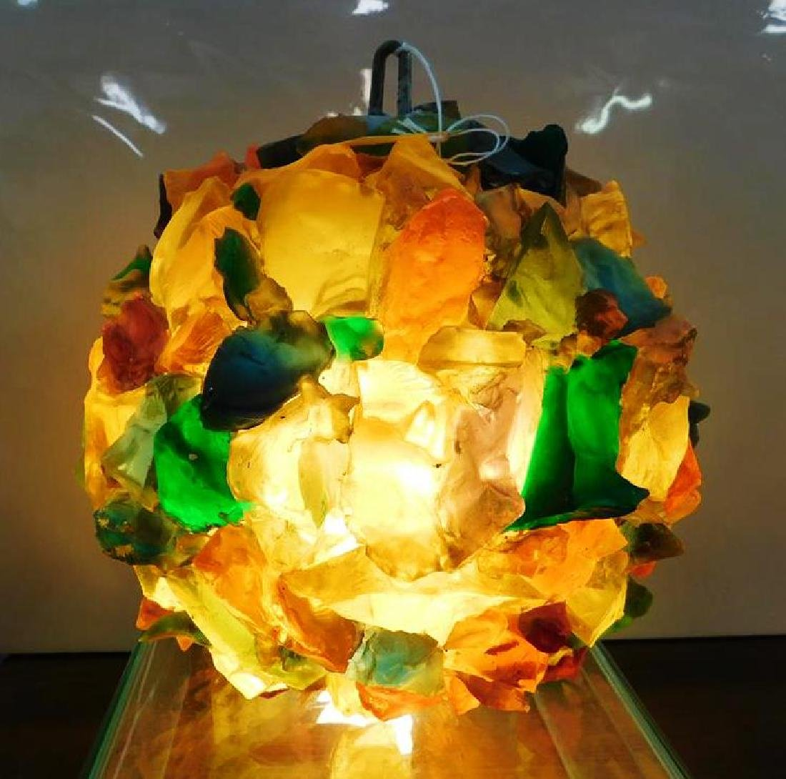 CHUNKY ACRYLIC SWAG LAMP