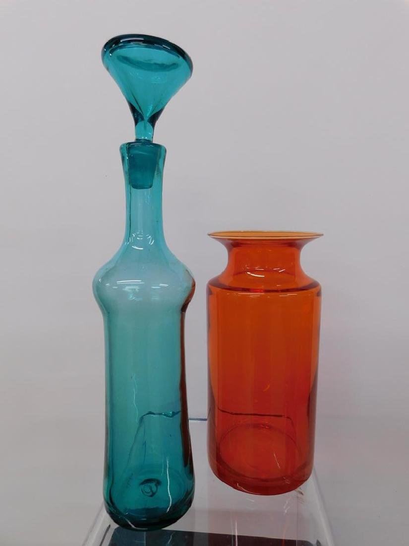 BLENKO VASE AND DECANTER