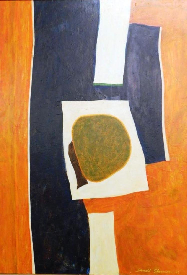 DONALD SHERMAN ABSTRACT PAINTING ON CANVAS, 1969