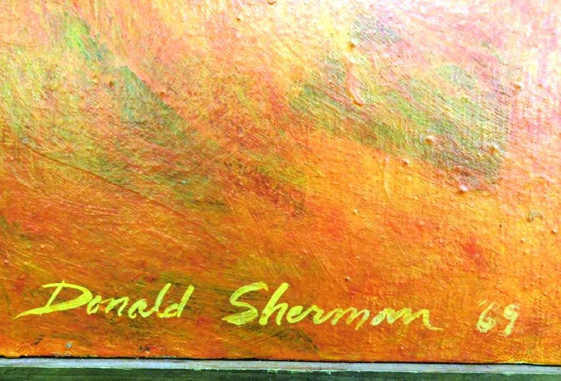 DONALD SHERMAN ABSTRACT PAINTING ON CANVAS, 1969 - 2