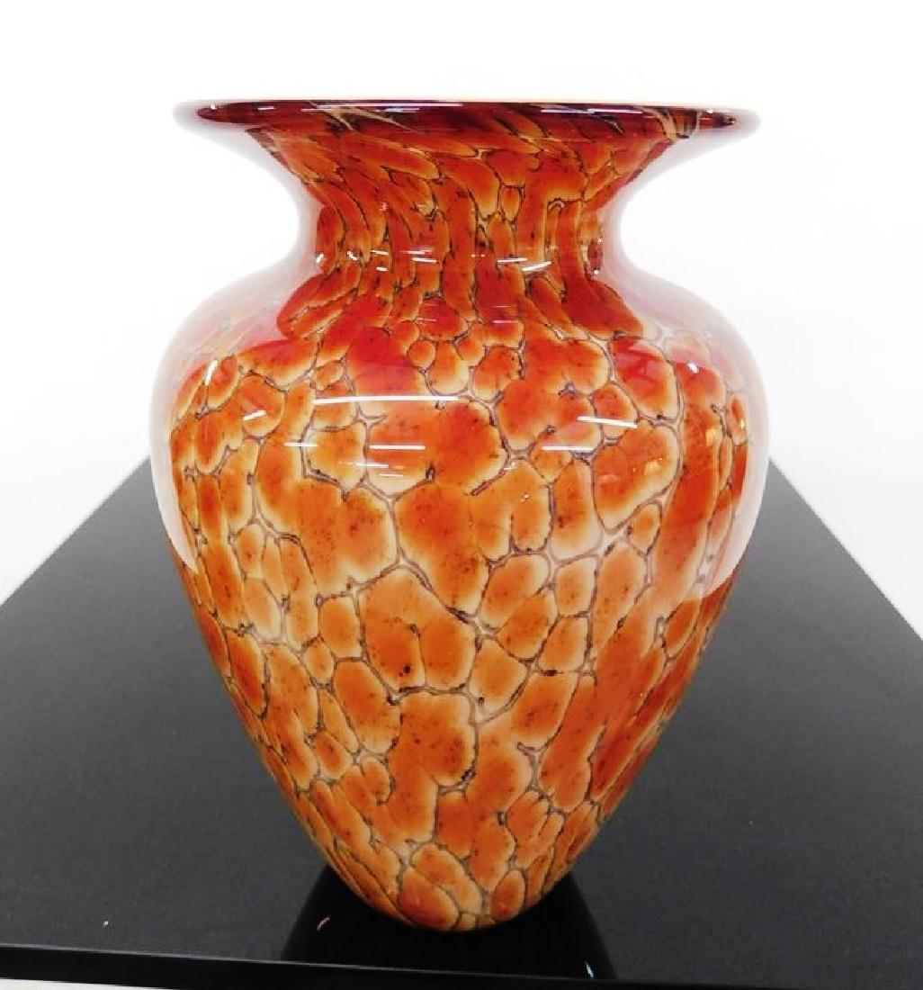 SIGNED (ILLEG.) ART GLASS VASE