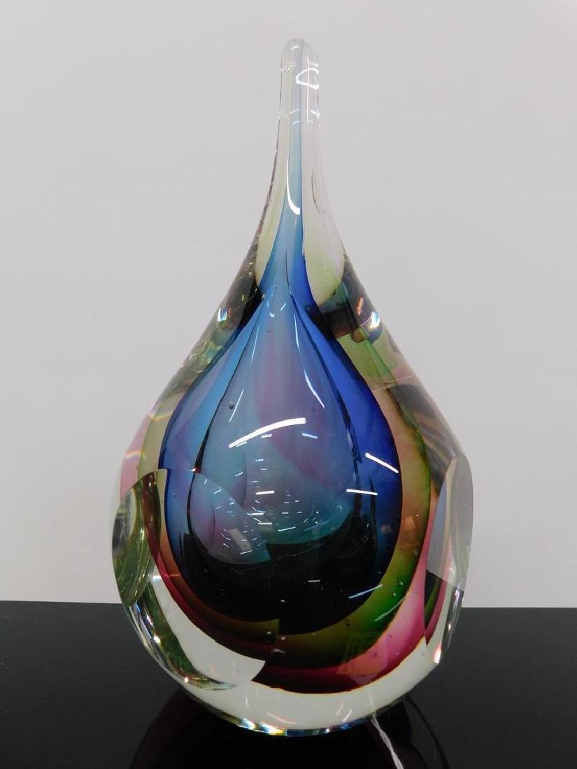 MURANO SOMMERSO ART GLASS TEARDROP