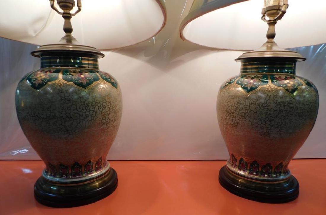 PAIR - WILDWOOD GILT TABLE LAMPS