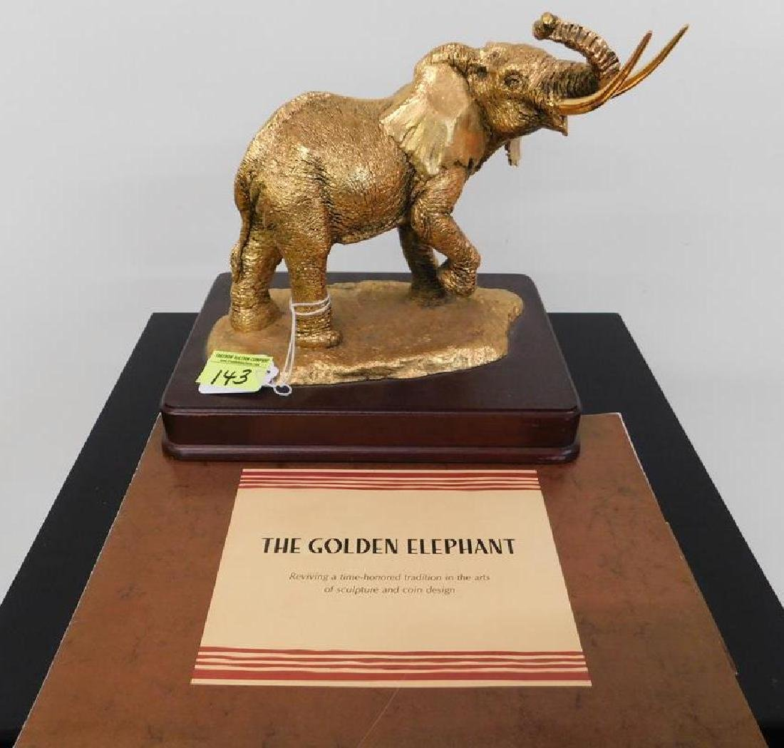 "ANTHONY JONES FOR FRANKLIN MINT ""GOLDEN ELEPHANT"""