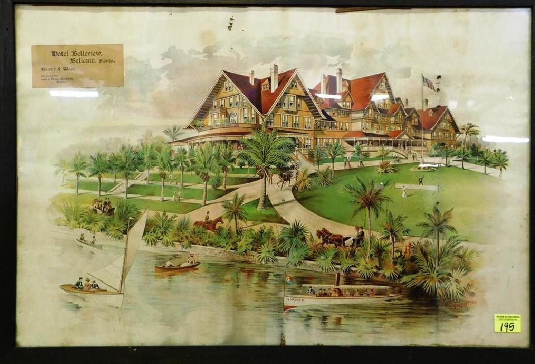 HOTEL BELLEVIEW, BELLEAIR, FLORIDA PRINT