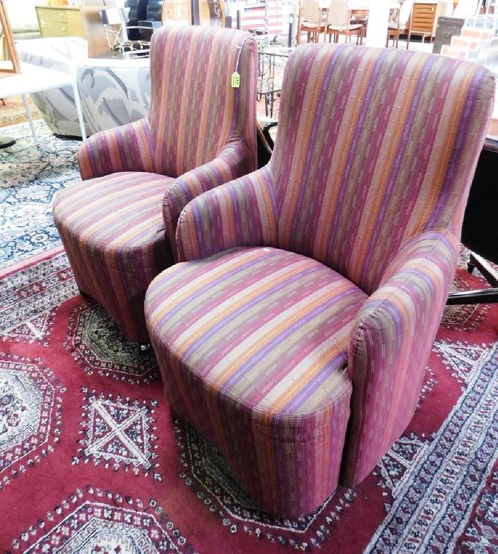 PAIR - DIRECTIONAL CLUB CHAIRS