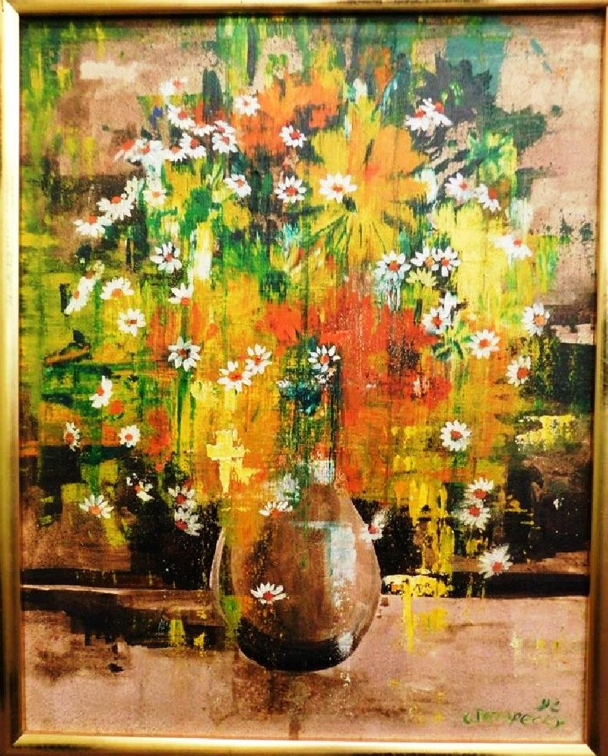 CTERPECKY FLORAL STILL LIFE ON CANVAS