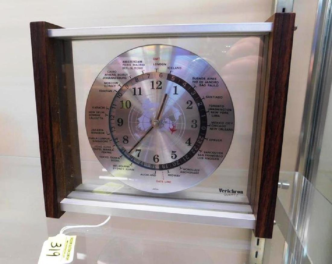 VERICRON (JAPAN) WORLD TIME DESK CLOCK