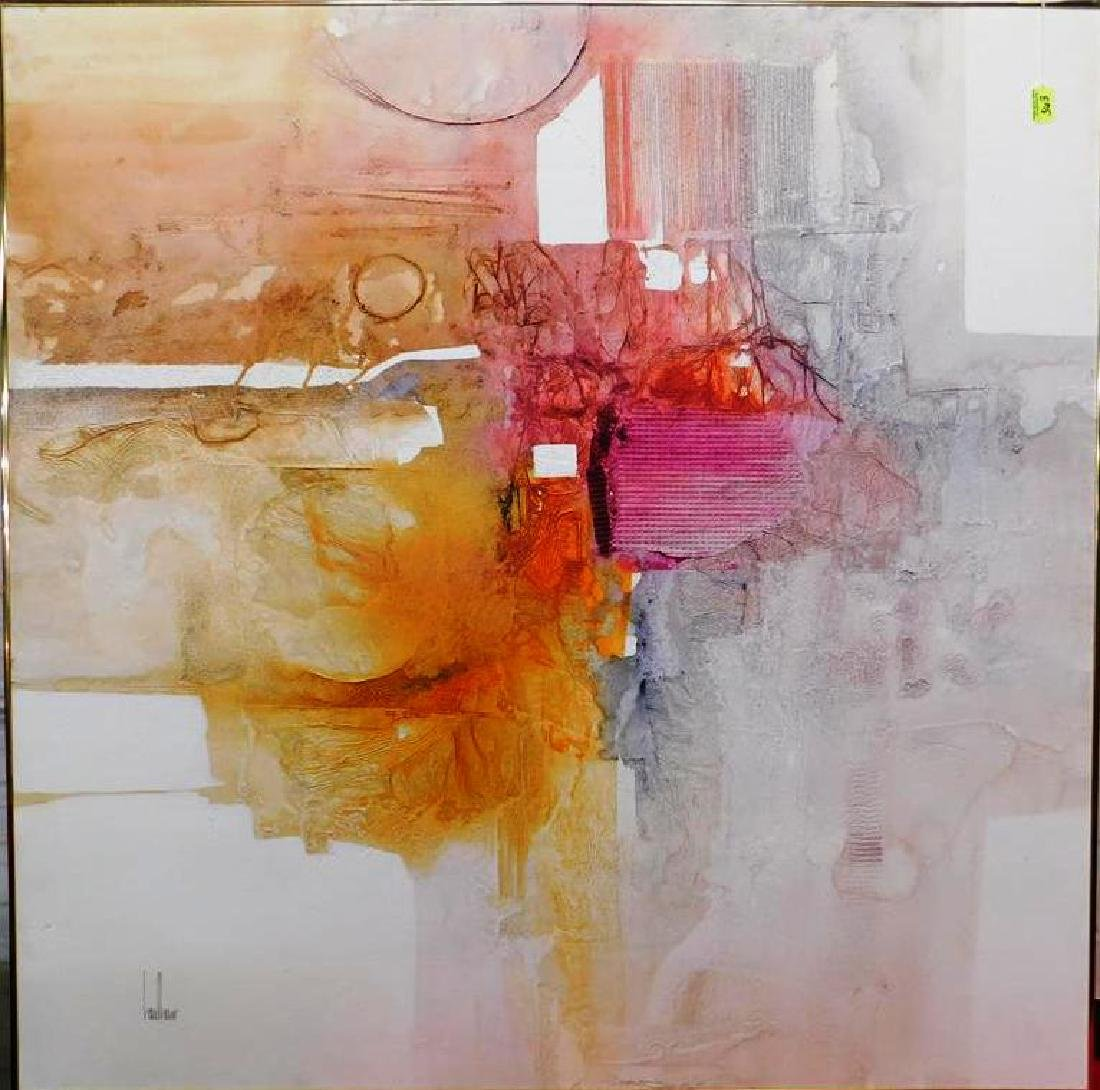 GREGORY HAWTHORNE ABSTRACT PAINTING ON BOARD