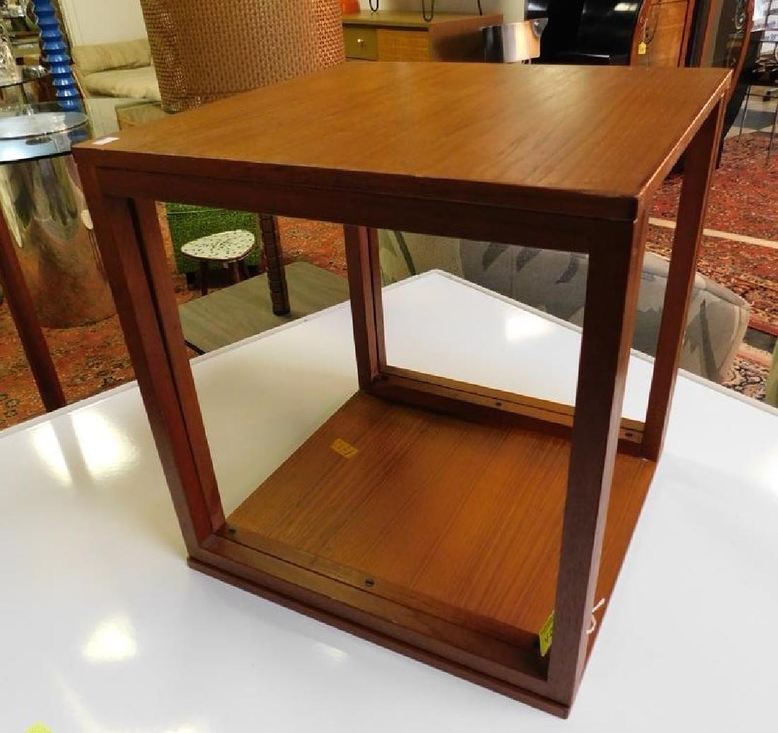 PAIR - KAI KRISTIANSEN TEAK CUBE TABLES