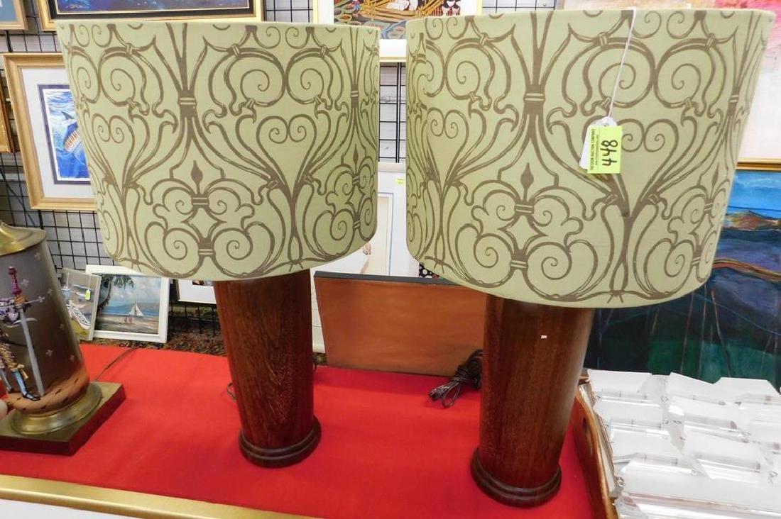 VINTAGE DANISH TEAK TABLE LAMPS