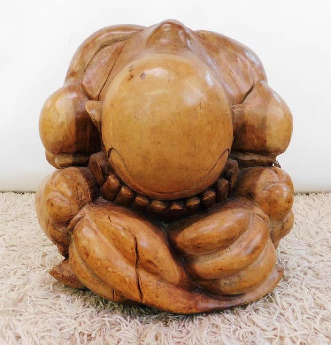 IMPRESSIVE WEEPING BUDDHA FLOOR SCUlPTURE - 2