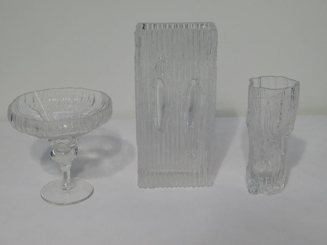 3 PC. TAPIO WIRKKALA GLASS ITEMS