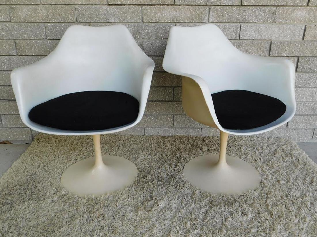 PAIR OF KNOLL TULIP CHAIRS