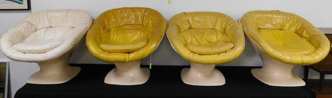 4 SPACE AGE - SPACE ODYSSEY CHAIRS