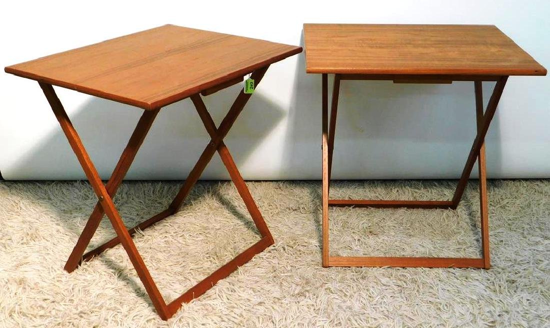BRDR. FURBO TEAK FOLDING SNACK TABLES