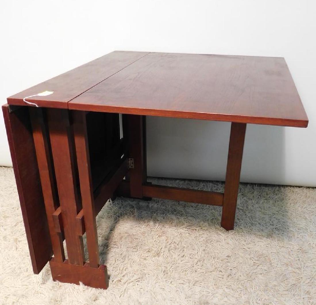 VINTAGE DROP SIDE TRESSLE TABLE - 3