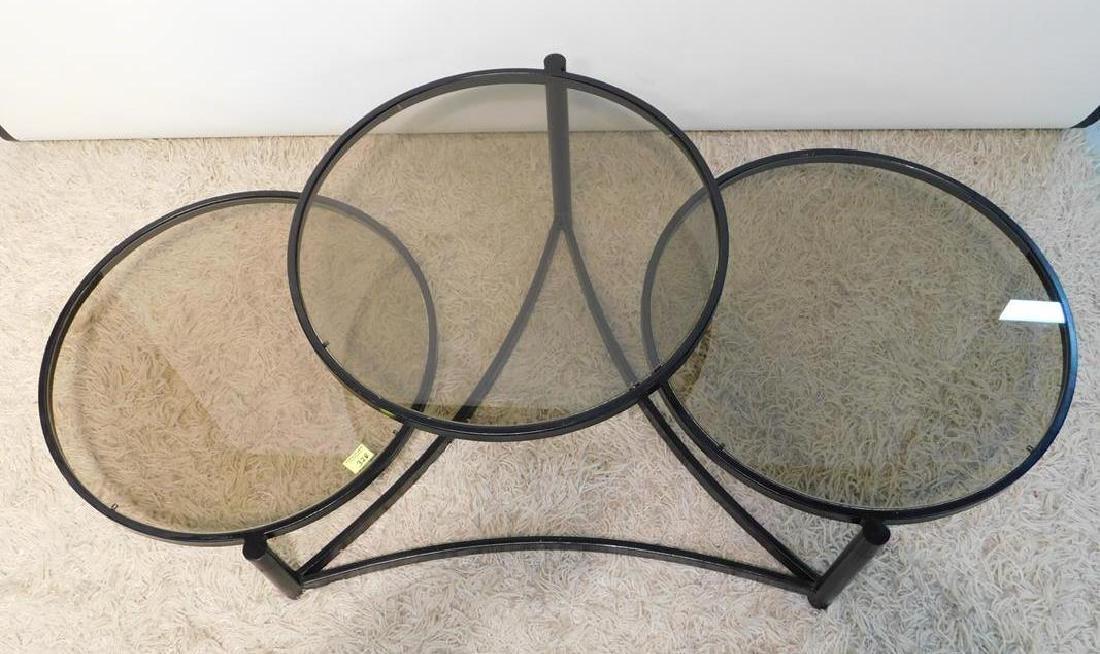 THREE TIER SWIVEL COFFEE TABLE - 2