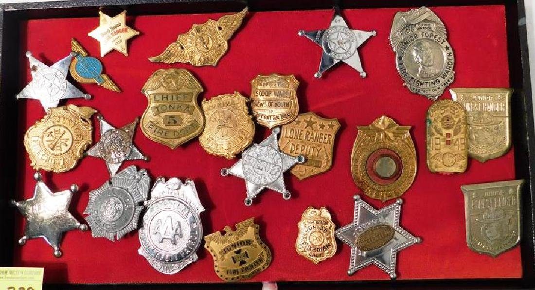 COLLECTION OF JUVENILE BADGES