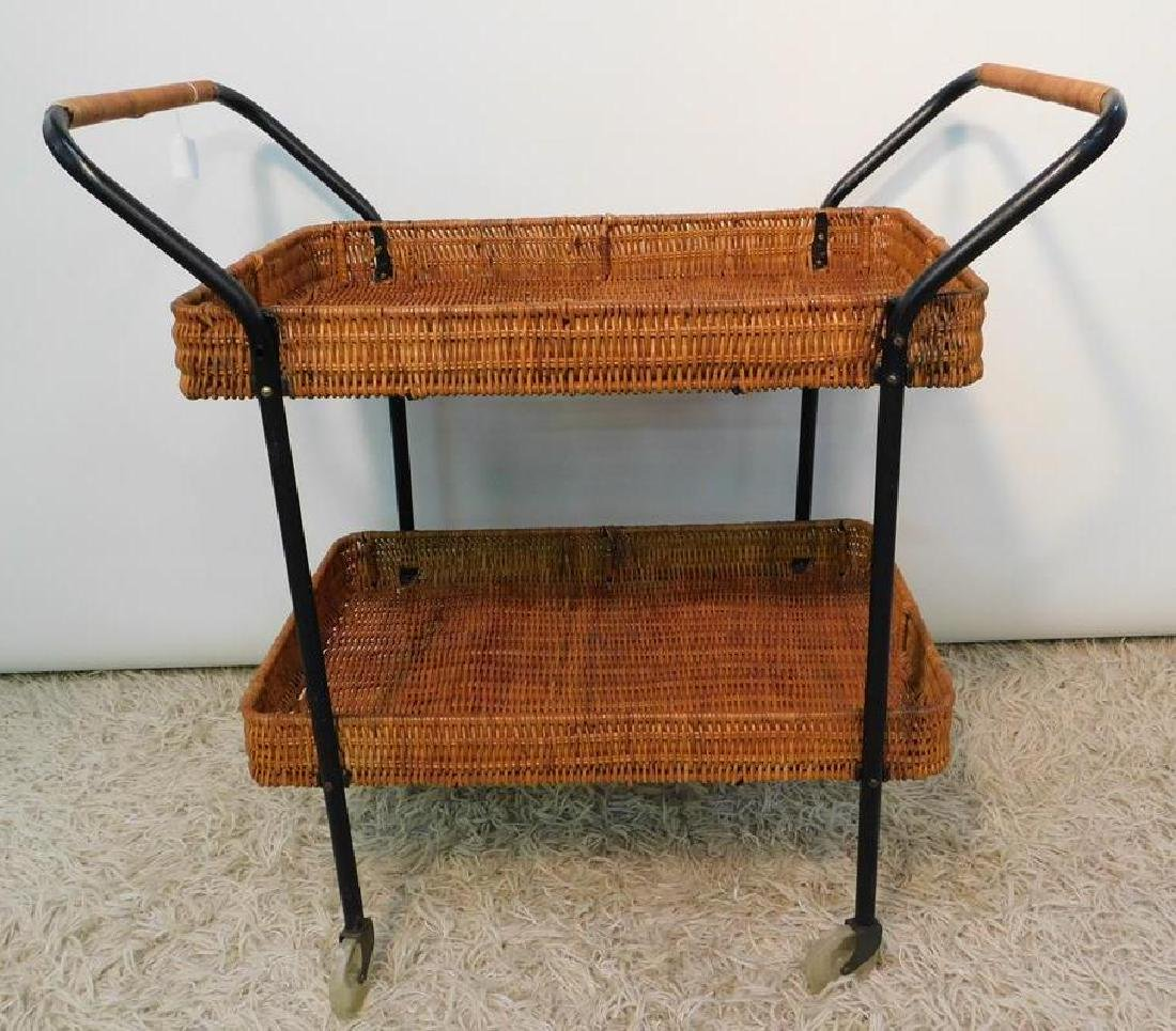RATTAN TEA TROLLEY