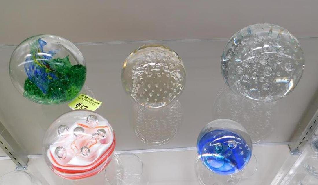 COLLECTION OF ART GLASS WEIGHTS
