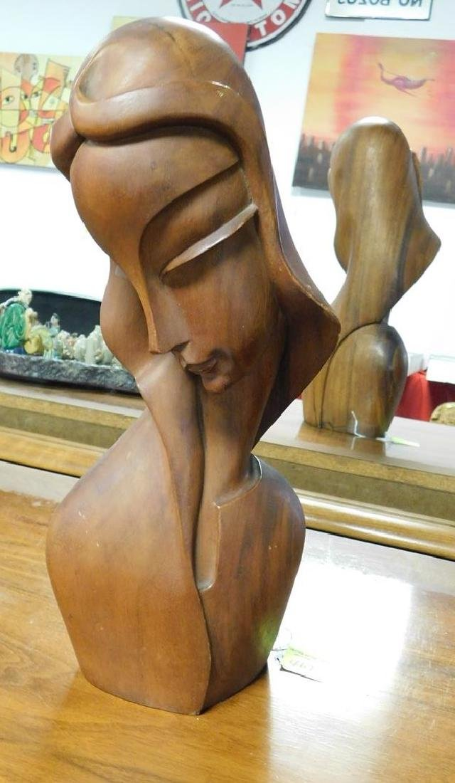 MCM CARVED BUST OF WOMAN