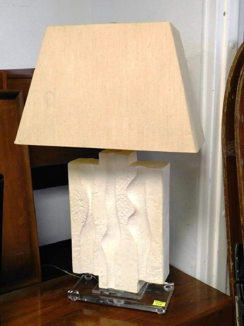 LARGE MODERNIST CERAMIC/LUCITE TABLE LAMP