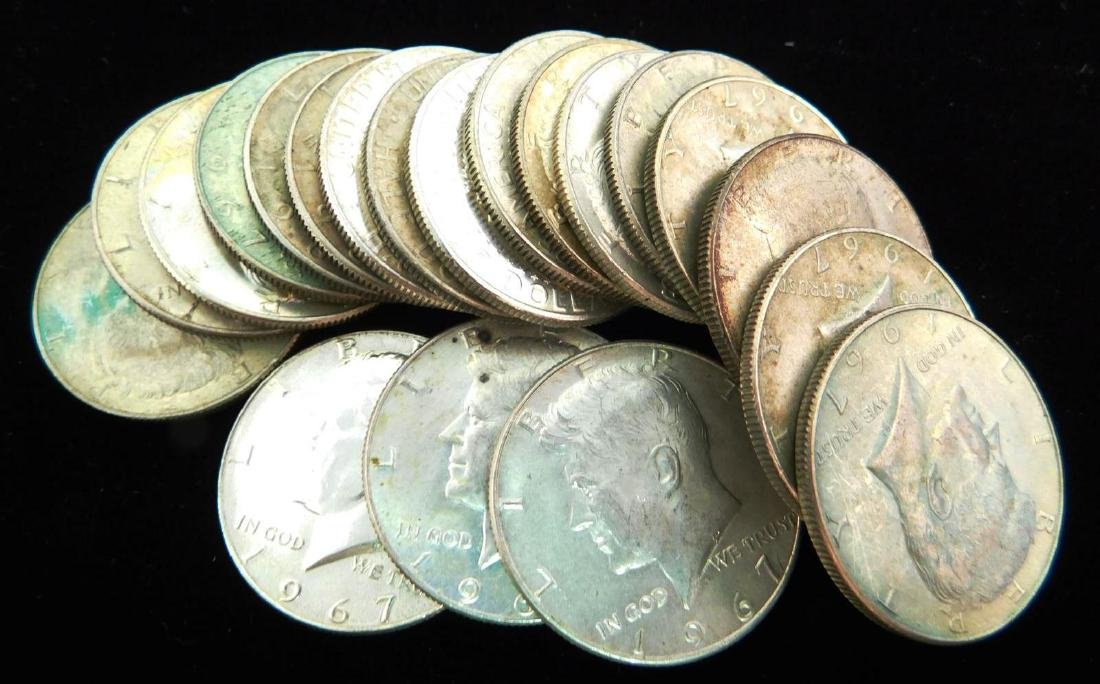 ROLL OF 1967 KENNEDY HALF DOLLARS