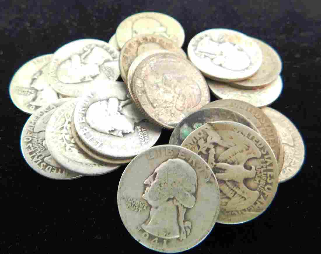 LOT OF 20 - 1940'S WASHINGTON QUARTERS