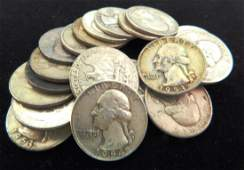 LOT OF 21 - 1950'S WASHINGTON QUARTERS