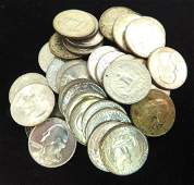 LOT OF 34 - 1940'S & 50'S WASHINGTON QUARTERS