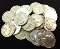 LOT OF 25 - 1964 WASHINGTON QUARTERS