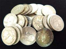 LOT OF 22 - 1960'S WASHINGTON QUARTERS