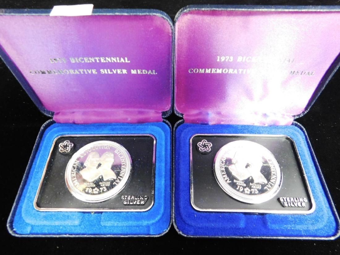 PAIR OF1973 BICENTENNIAL STERLING MEDALS